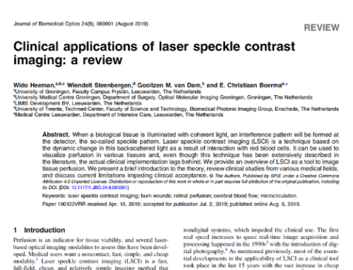 Clinical applications of laser speckle contrast imaging – a review